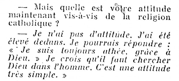 Image from Luis Buñuel's interview in L'Express, May 12, 1960, p. 41