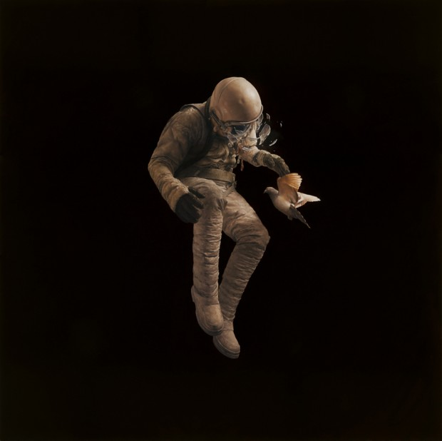 """Adrift"" by Jeremy Geddes, oil on board, 29.5"" x 29.5"", 2011"