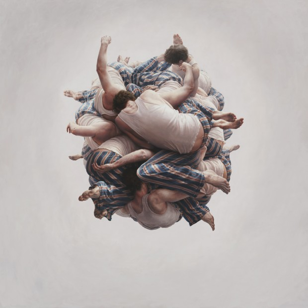 """Cluster"" by Jeremy Geddes, oil on board, 44.5"" x 44.5"", 2011"