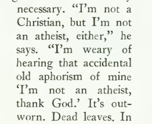 Image from Luis Buñuel's interview in The New Yorker, December 5, 1977, p. 54