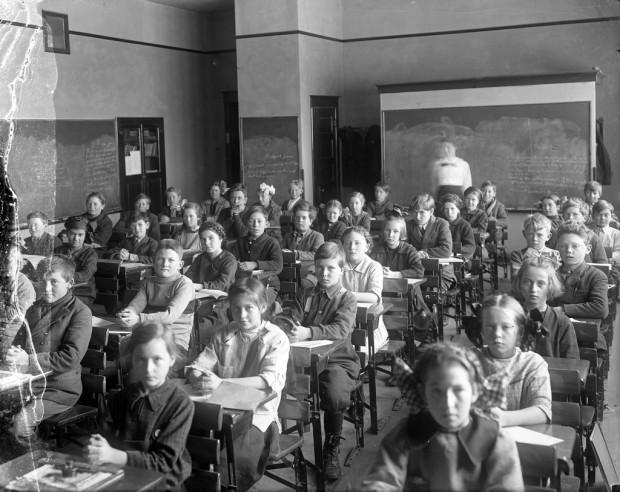 """""""School Classroom"""" by Benjamin A. Gifford, c. 1905"""