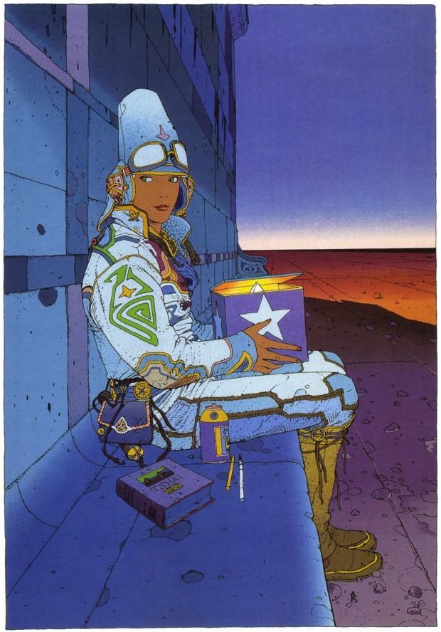"""Starwatcher by Moebius published in  """"Starwatcher"""", Paris: Aedena, 1986, p.85"""