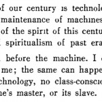 """Excerpt from """"Constructivism and the proletariat"""" reproduced in Sibyl Moholy-Nagy's book """"Experiment in Totality"""", New York: Harper & Brothers, 1950, p. 19."""