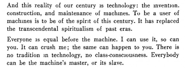 "Excerpt from ""Constructivism and the proletariat"" (""Konstruktivismus und Proletariat"") by László Moholy-Nagy, first published in the Hunagrian magazine MA in May 1922"