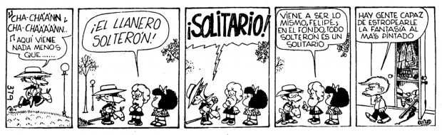 """Mafalda Tome 2"" by Quino, comic strip no. 379, original Spanish version, Buenos Aires: Ediciones de la Flor, 1972"