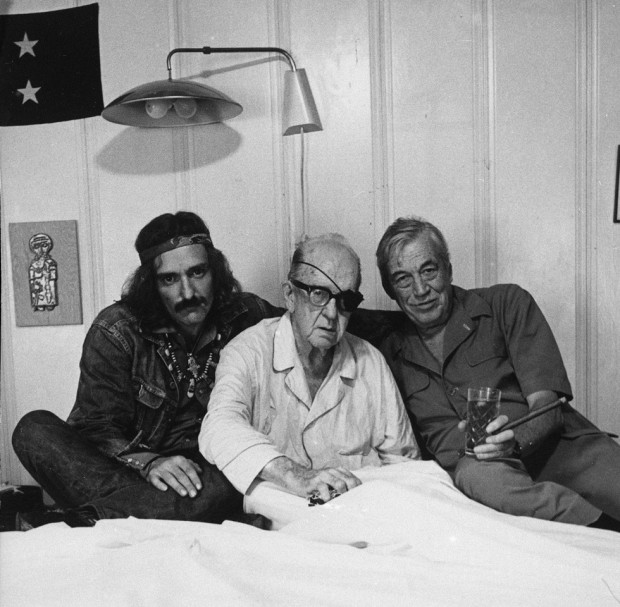 "[cropped version] Dennis Hopper, Actor, John Ford, Director, John Huston, Director, 13 September 1971, Palm Springs, California, photographed by Victor Skrebneski, gelatin silver print, 14"" x 21 3/8"". © 2012 Victor Skrebneski."