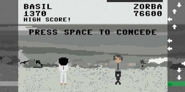 """ZORBA"" the video game (screen capture), by Pippin Barr, November 2011. © Pippin Barr"