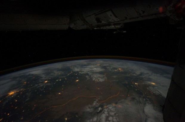 """Border From Space"" photographed from the International Space Station by NASA Astronaut Ron Garan on August 17, 2011 at 9:44pm GMT. (CC BY-NC 2.0)"