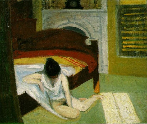 """Summer Interior"" by Edward Hopper, oil on canvas, 24 x 29 inches, 1909"
