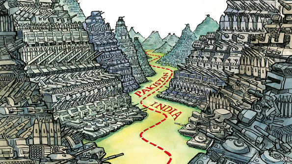The Indo-Pakistani border by Kevin Kallaugher a.k.a. KAL, The Economist, May 19, 2011.