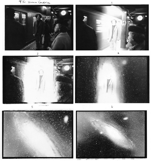 """The Human Condition"" by Duane Michals, 6 gelatin silver prints with hand-applied text, 5 x 7 inches, edition 22/25, 1969. © Duane Michals."