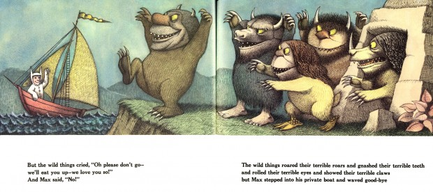 """Where the Wild Things Are"" (pp. 31-32) by Maurice Sendak,  Harper Trophy edition (1963)1984, 25th Anniversary Edition. © Maurice Sendak."