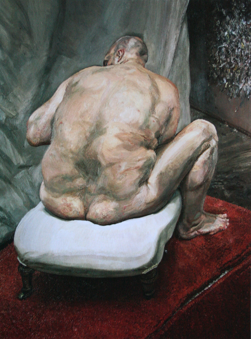 """naked man, back view""""lucian freud, 1991-1992"""