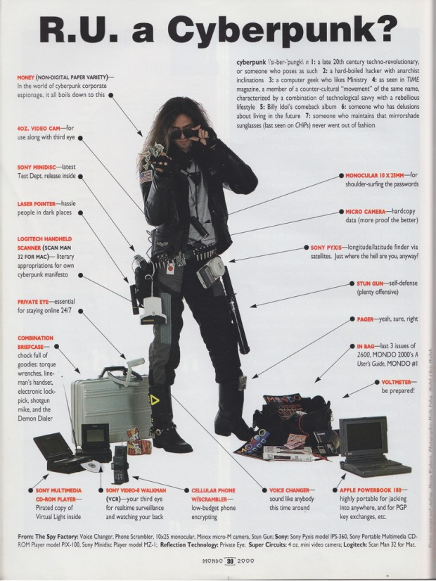 """R.U. a Cyberpunk"" from 'Mondo 2000' magazine, no. 10, 1993, p. 30."