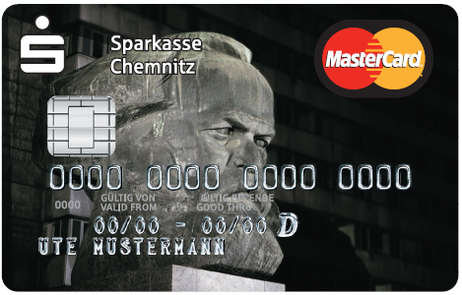 Master Card with Karl Marx portrait