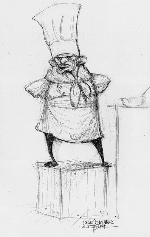 Character design by Carter Goodrich for the film    Ratatouille    Ratatouille Character Design