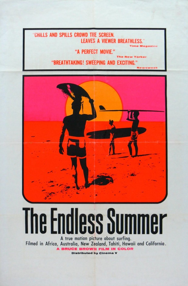 """The Endless Summer"" movie poster, screenprint, 27"" x 41"", 1964. © John Van Hamersveld."