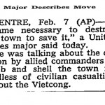 "The New York Times, ""Major Describe Moves"", February 8, 1968, p. 14"