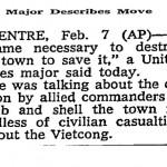 "The New York Times, ""Major Describe Moves"", February 8, 1968, p. 14"