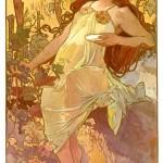 """The Seasons: Autumn"" by Alphonse Mucha, 1896"