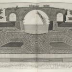 """""""Tav. XXIII. A. Elevazione del Ponte Ferrato"""" by Giovanni Battista Piranesi, 1756"""