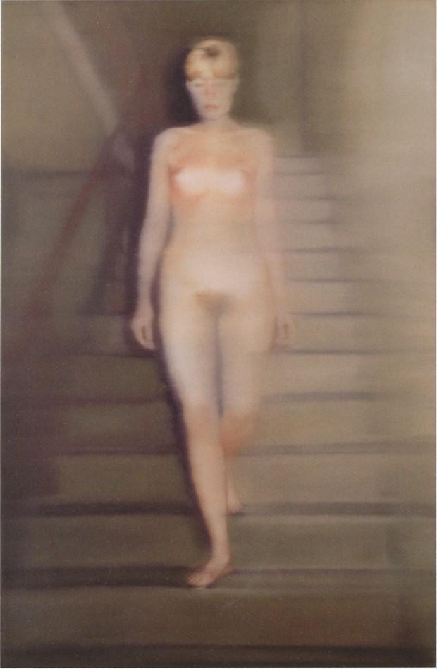 """""""Ema-Akt auf einer Treppe"""", Ema (Nude on a Staircase) by Gerhard Richter, 1966, oil oncanvas, 200 x 130 cm."""