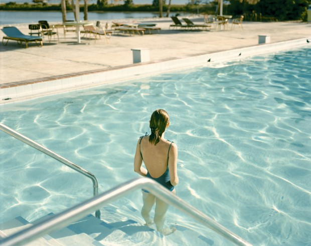 """Ginger Shore, Causeway Inn, Tampa, Fla., Nov. 17, 1977"" by Stephen Shore, colour photograph, 51 x 61cm"