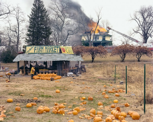 """McLean, Virginia, December 1978"" by Joel Sternfeld from the series: 'American Prospects'. The original image is a dye transfer print and measures 37.7 x 48.7 cm"