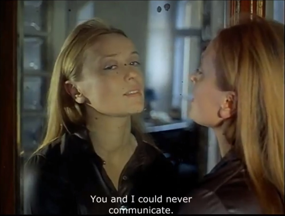 You And I Could Never Communicate In Mirror By Andrei border=