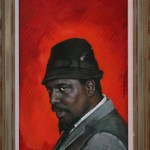 Portrait of Thelonious Monk by Boris Chaliapin, 1964