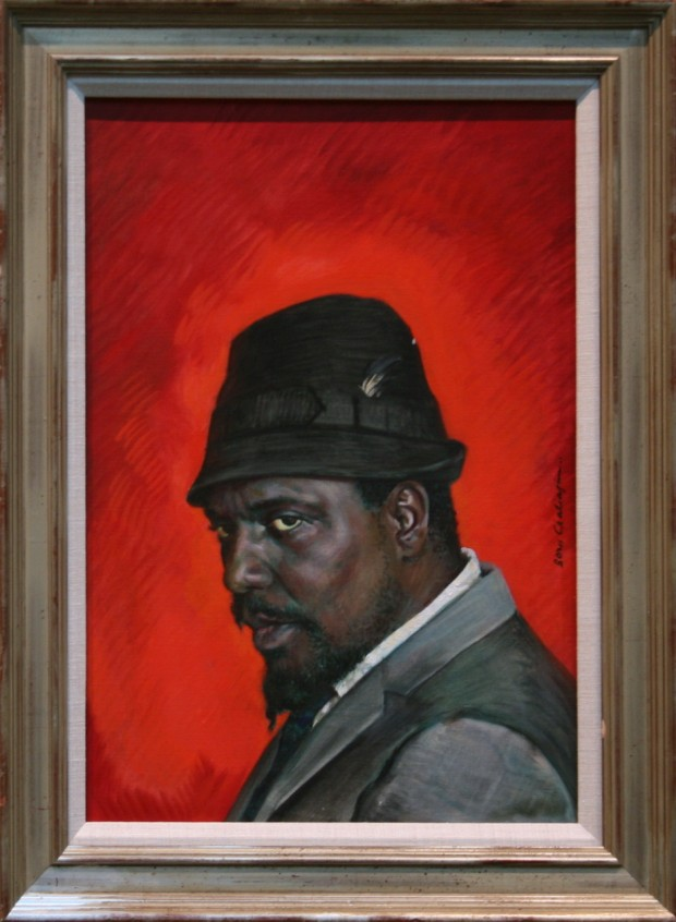 Portrait of Thelonious Monk by Boris Chaliapin, oil on canvas, 53.3 x 38.1cm. Photo by Cliffords Photography (CC BY 2.0)