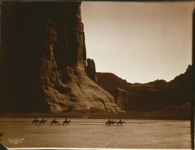 """Canon de Chelly--Navajo"" by Edward S. Curtis, c. 1904. Image retrieved from The Library of Congress. Public domain."