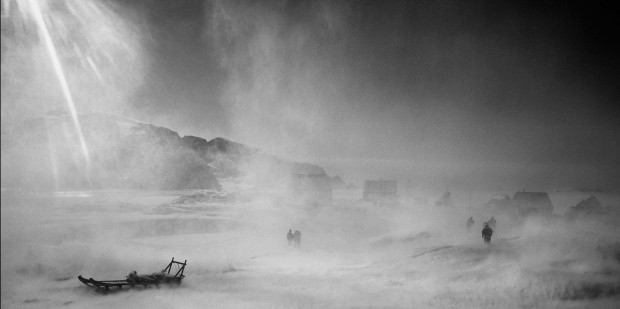 """A glacier storm in Sermiliqaq village"" by Ragnar Axelsson, from the Greenland series, 2004. Captions retrieved from NYTImes.com © Ragnar Axelsson. Used with permission."