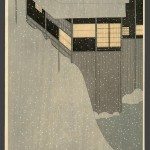 """Snowy Morning"" by Settai Komura, c. 1924"