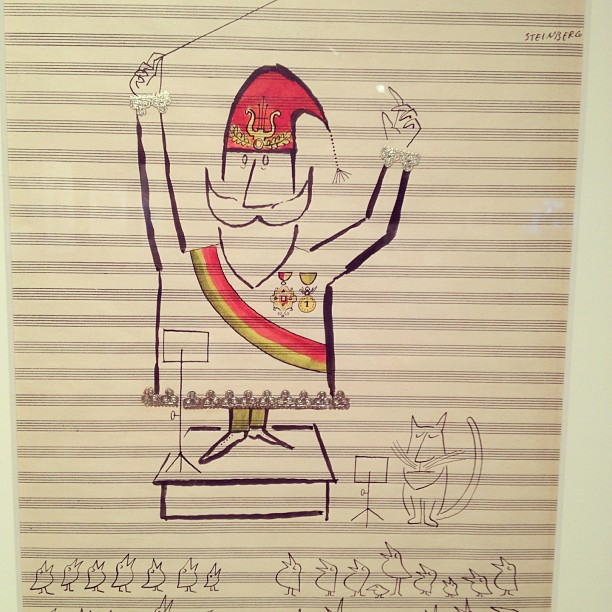 Original Saul Steinberg holiday drawings for Hallmark. c.1950's. Retrieved from Kate Bingaman-Burt Flickr account. Used with permission.