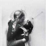 """Boy meets girl - from Mars"" (variation) by Weegee (Arthur Fellig), ca. 1955, New York (NY), gelatin silver print. Getty editorial image no. 3091280. © Getty Images/ICP"