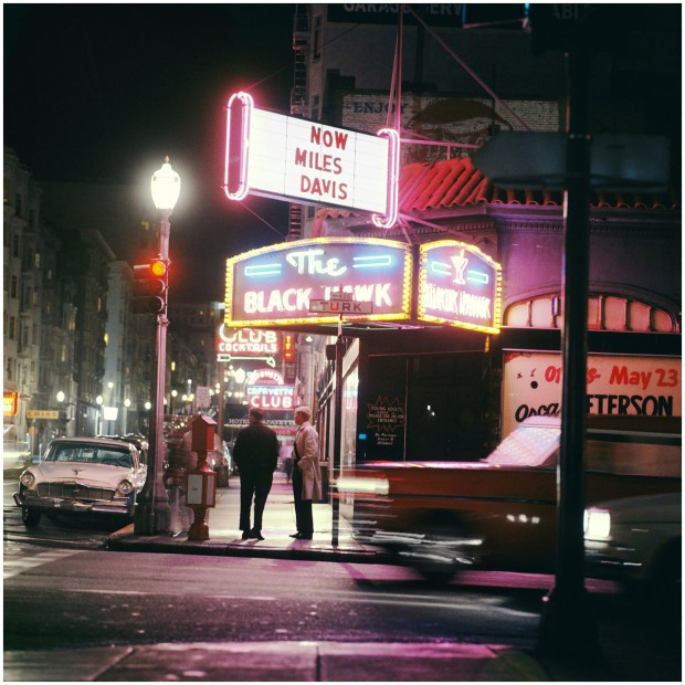 """""""Miles Davis, San Francisco, 1961"""" color photograph by Leigh Wiener. © 1961 Leigh Wiener. All Rights Reserved."""