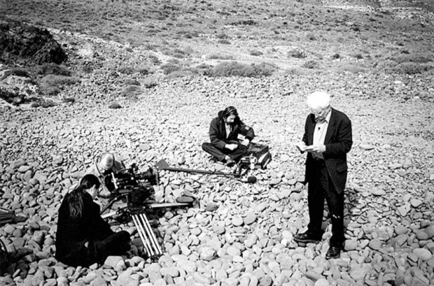 Derrida, Jean-François Mabire, Martial Barrault (director of photography), Safaa Fathy, Almeria, Spain, 1999. Retrieved from Diacritics, Volume 38, Numbers 1-2, Spring-Summer 2008, p. 23.