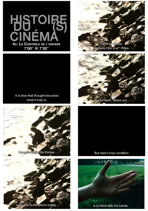"Screenshots from Jean-Luc Godard's 'Histoire(s) du cinéma' Chapter 4A, 7'00"" @ 7'20"""