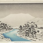 """Ibuki Mountain in Snow"" by Hashiguchi Goyō, 1920"