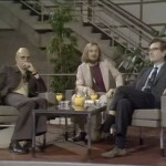 Still from the complete video recording of the Chomsky-Foucault debate that took place in 1971. @ 00:03:47