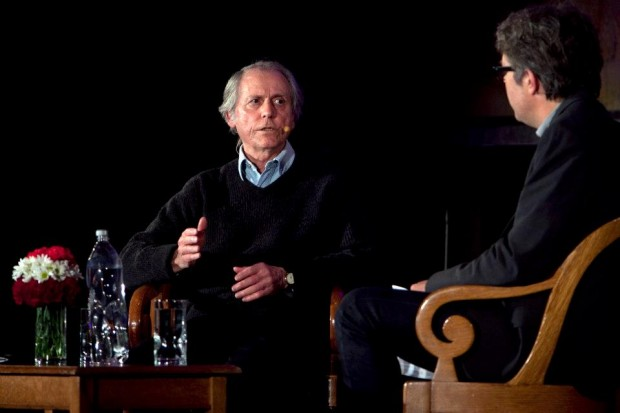 Live at the New York Public Library: Don DeLillo in conversation with Jonathan Franzen, October 26, 2012. Photo Credit: Jori Klein/The New York Public Library.