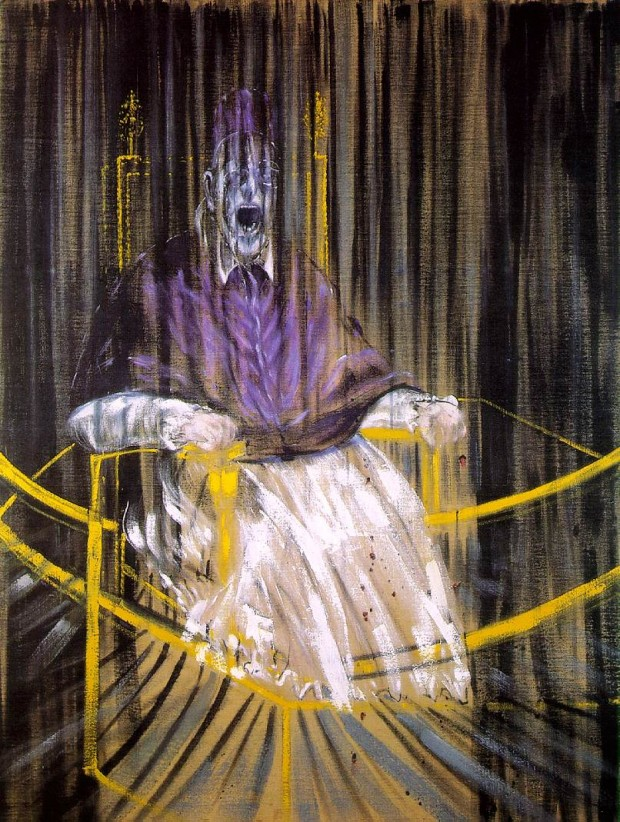 """Study after Velázquez's Portrait of Pope Innocent X"" by Francis Bacon, 1953"