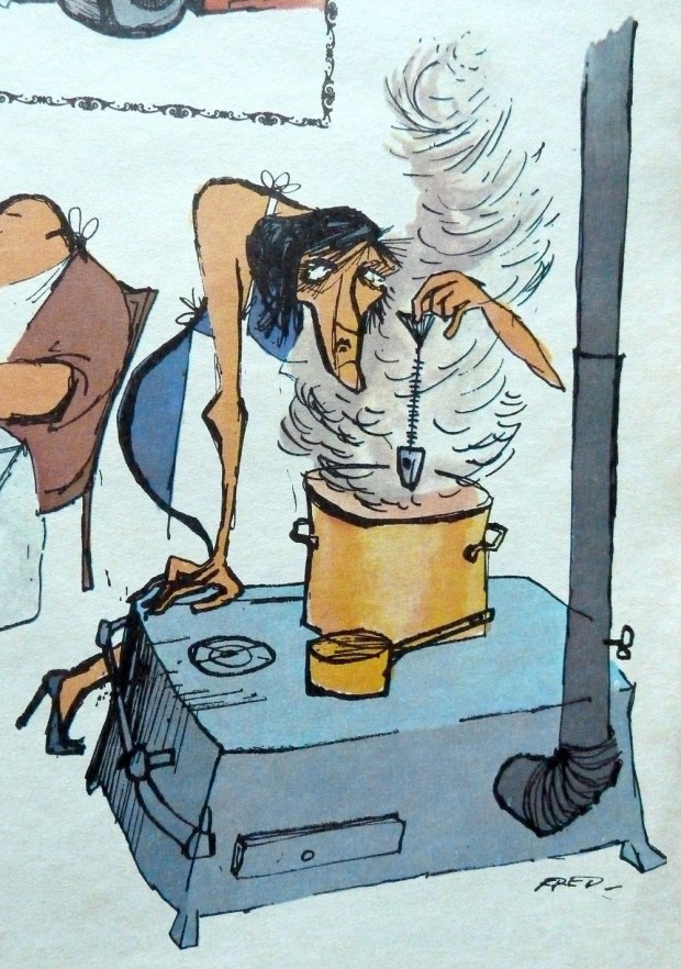 """Fille à soldats"" by Fred, Pilote no 6, Hors-Série, November 1974, p. 33."