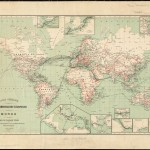 Earlier maps of worldwide telegraphic lines