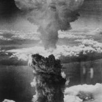 """""""A dense column of smoke rises more than 60,000 feet into the air over the Japanese port of Nagasaki, the result of an atomic bomb, the second ever used in warfare, dropped on the industrial center August 8, 1945, from a U.S. B-29 Superfortress."""" Document no 208-N-43888, retrieved from Archive.gov"""
