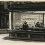 Studies for 'Nighthawks' by Edward Hopper, 1941-1942