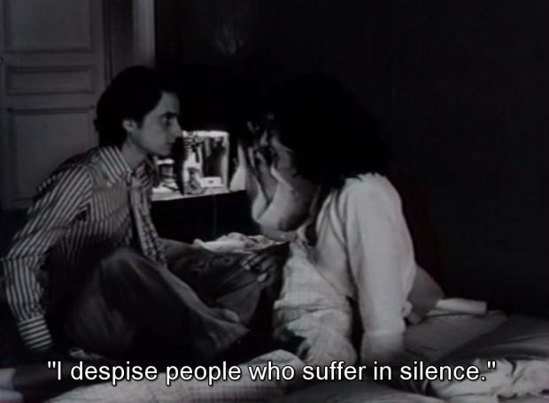 Still from Jean Eustache's film 'La Maman et la putain', 1973, France, 210 mins, @ 01:09:00