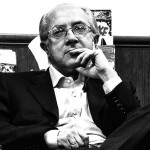 Black and white portrait of Roberto Esposito taken in 2008 by Jorge Ledo (Flickr). © All Rights Reserved.