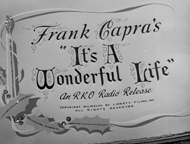 Still from the opening credits of Frank Capra's movie 'It's a Wonderful Life' (1944)